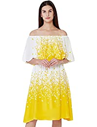 AND Women's A-Line Dress (SS17AB084DRP68PRINT10)