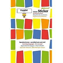 mindmemo Vokabel Sticker - Grundwortschatz Spanisch / Deutsch - 280 Vokabel Aufkleber - Lernen ganz einfach - 3D Lernhilfe