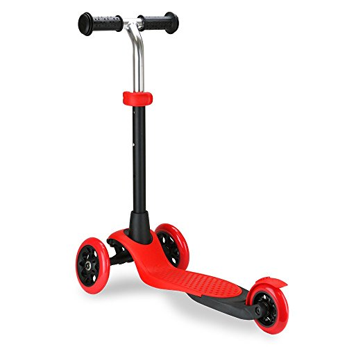 Zycom Kinderscooter Zing Kinderroller Scooter Roller Tretroller Cityroller Kickboard Kickscooter (rot/schwarz) -