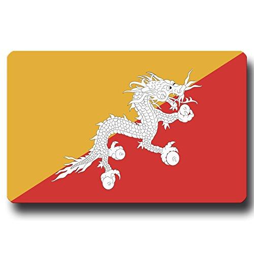 GUMA Magneticum 2670-8554 Kühlschrankmagnet Flagge Bhutan - 85x54 mm - Metall Magnet mit Motiv Länderflagge (Magnetwand Blech)