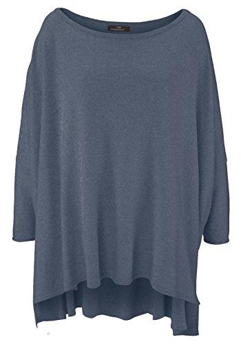 Poncho für Damen mit Kaschmir/Cashmere von Zwillingsherz/Modischer All-Rounder für Frauen als Alternative zu einem Strickwaren/Pulli/Strick-Pullover/Cardigan/Strick-Jacke Jeansblau Damen Cashmere Cape