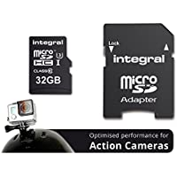 Integral INMSDH32G10-ACTION Ultra High Speed UHS-I U3 32 GB MicroSDHC Memory Card for Action Camera 4K Recording