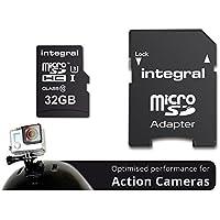 Integral INMSDH32G10-ACTION Action Camera Scheda di Memoria Micro SDHC, 32 GB, Nero