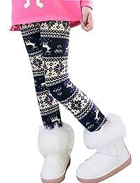 Lazzon Niña Invierno Leggings Mallas Pantalones Largos Grueso Cálido Forrado Caliente Jeggings