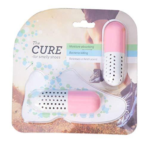 erthome Deodorant Capsule - Kapselform Schuhtrockner Deodorizer Home Utensilien, Multifunktionsgeräte, kompakt (18 x 18 x 3cm, Rosa)