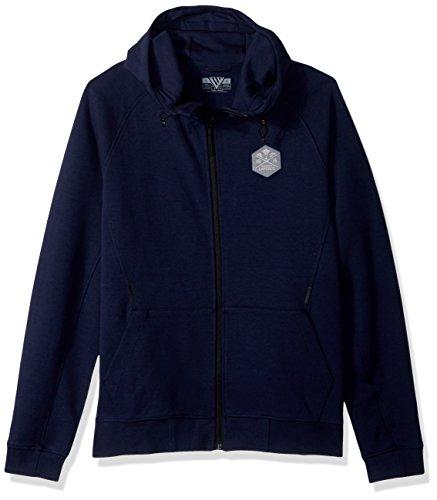 Levelwear LEY9R Festung Kreuz über Full Zip Hooded Sweatshirt, Herren, Fortress Cross Over Full Zip Hooded Sweatshirt, Navy, XX-Large
