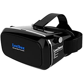 Leelbox 3D VR Virtual Reality Glasses with Adjustable Headband For Iphone 6S IPhone 6 plus/6/5S/5 °C/5 Samsung Galaxy S5/S6/NOTE4/NOTE5 and 4.0 - 6.0 inch Smartphone