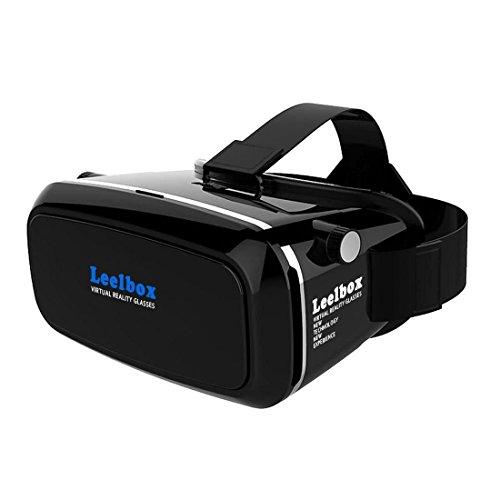Leelbox 3D VR Brille virtual Reality Glasses einstellbar 3D VR Headset 3d vr glasses für 3D Filme/Spiele eignet für iPhone6s/6 Plus/6/5S/5C/5 Samsung Galaxy S5/S6/Note4/Note5 und 4.0 ~ 6.0 Zoll Bildschirm Smartphone