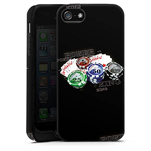 Apple iPhone 4 Housse Étui Silicone Coque Protection Poker Jeu de cartes Casino Cas Tough terne