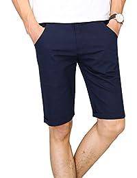 YAANCUN Herren Chino Shorts Bermuda Kurze Hose Mit Taschen Aus 100%  Baumwolle Regular Fit 84545d3b2b