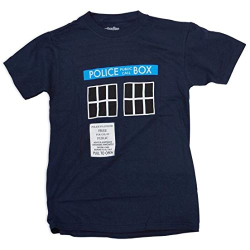 Men's Official Doctor Who TARDIS Police Box Navy T-shirt