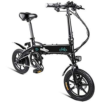 SOULONG Bicicleta eléctrica Plegable, Bicicleta Plegable de 250 W a 25 km/h para Adultos con luz Delantera LED, Bicicleta eléctrica E-Bike con batería de 7.8Ah, con pedaleo asistido, Negro: Amazon.es: Deportes y