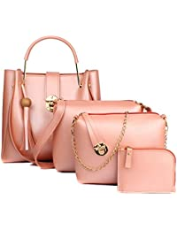 Mammon Women's Stylish Handbags Combo (4L-bib-Bpink)