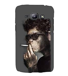EPICCASE Smoking monkey swag Mobile Back Case Cover For Samsung Galaxy J1 (Designer Case)
