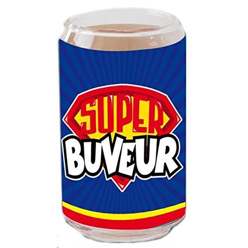 VERRE CANETTE SUPER BUVEUR