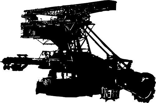 Wandtattoo: Schaufelradbagger, Bergbau, Kohle, Maschinen, Baufahrzeuge, Bagger, Abraum // Farb- und Größenwahl (Violett - 910 mm x 600 mm)