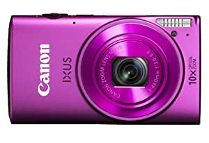 Canon IXUS 255 HS 12.1MP Point-and-Shoot Digital Camera (Pink) with SD Card, Camera Case