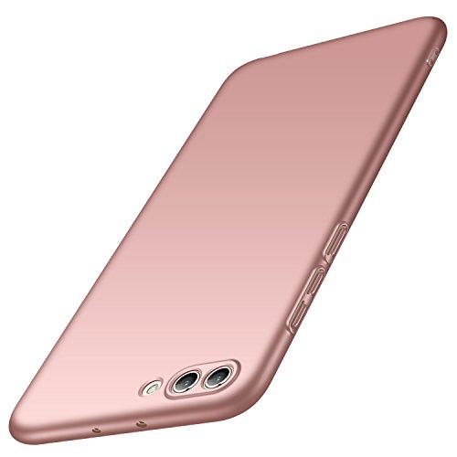 anccer Huawei Honor View 10 Hülle, Huawei Honor V10 Hülle, [Serie Matte] Elastische Schockabsorption und Ultra Thin Design (Glattes Rosen-Gold)