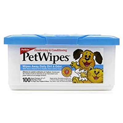 Petkin Pet Wipes for Dogs and Cats (100 Pack)