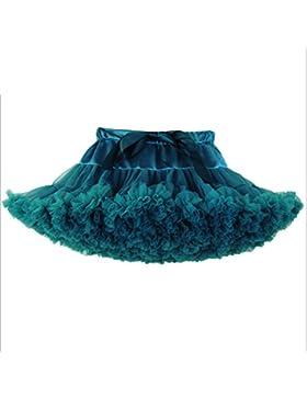 JYSPORT - Tutú para, Ballet, acolchado, de fiesta, tipo princesa, falda para bebé niña., Verde oscuro