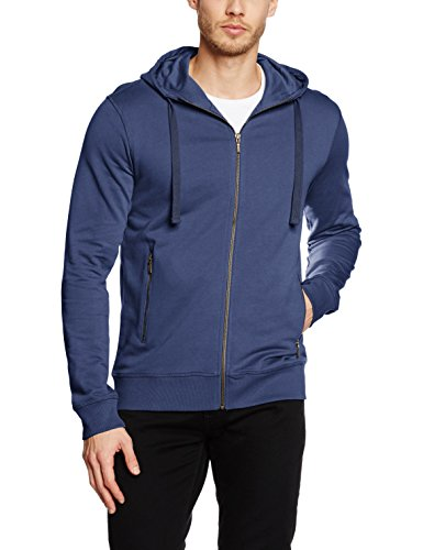 James Harvest Duke, Sweats à Capuche Homme, Blue (Faded Blue), Large