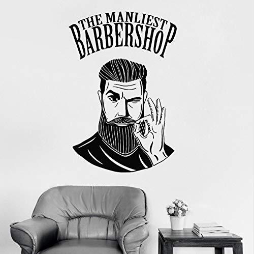 rshop Zeichen Wandaufkleber Wandbild Friseur Logo Aufkleber Fenster Aufkleber Dekor Wandtattoo Für Friseursalon Rmovable 56 Cm X 83 Cm ()