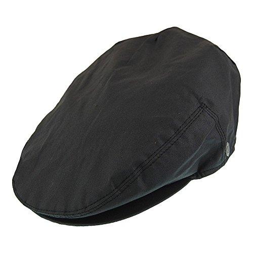 Jaxon & James Oilcloth Flat Cap - Black