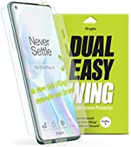 Ringke Dual Easy Wing OnePlus 8 Screen Protector Full Coverage (Pack of 2) Dual Easy Film Case Friendly Protec
