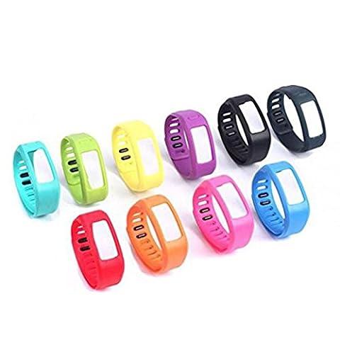 BZLine® 10Pcs TPU Bracelets de Remplacement(Taille Petite)avec Fermeture de Boucle pour Garmin vivofit