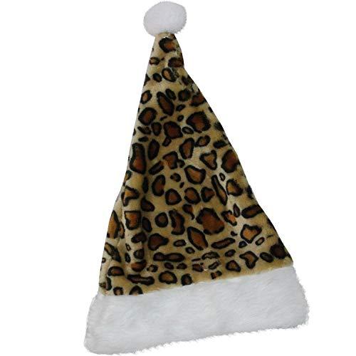 3e9b62039916a Dan-Dee Collector s Choice Plush Christmas Leopard Cheetah Print Santa Elf  Hat