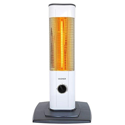 VASNER StandLine Mini 12 Infrarot Stand-Heizstrahler 1200 Watt, weiß, mit Thermostat, Infrarotstrahler für Terrasse, Außenbereich, Innenbereich