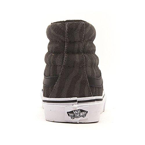 Vans Ua Sk8-Hi, Chaussures en Forme de Bottines Femme, Gris, Taille Gris
