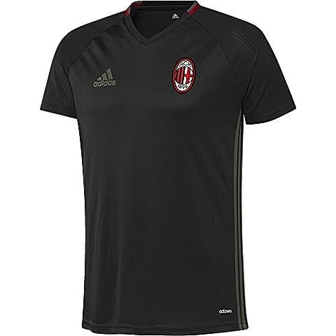 adidas ACM TRG JSY - T-shirt - Ligne AC Milan pour Homme, Noir / Vert / Rouge - S, Taille: S