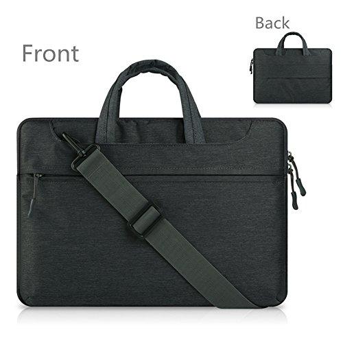 Oricsson Laptoptasche für 12,13,3,14,15,6 Zoll (30,5, 33,8, 35,6, 39,6 cm) Tablet/Laptop, für Gepäck schwarz schwarz 10