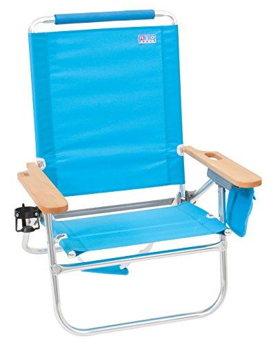 Rio Marken Beach Bum Strand Stuhl, türkis (4 Beach-chair-position)