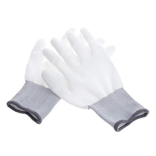 Celan Best 1 Paar Antistatische Anti-Rutsch-Handschuhe für PC Computer ESD Elektronische Arbeitshandschuhe Farbe: Weiß + Grau -