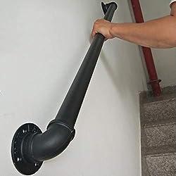 Treppen Gel/änder Black Matte Metall Schmiedeeisen Treppen Gel/änder Schienen Direkt zu Stairwell T/ür-Haus oder Keller Eingang GJIF Gel/änder for Innentreppen oder Aussentreppe 1 ft-20ft