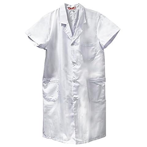 MagiDeal Manteau Labaratoire Blanc Blouse Haut Infirmier Uniforme Vêtement Déguisement Médecin - Blanc, L