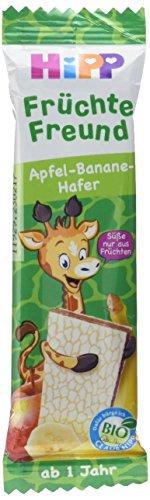 HiPP Bio-Riegel - Früchte-Freund Früchte Freund Giraffe Apfel-Banane-Hafer, 23 g (Giraffen-knochen)