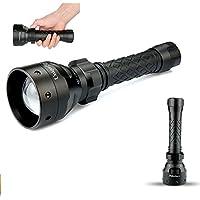 UniqueFire UF-1406 850 nm IR Torcia 50 mm Lente a LED con Messa a Infrarossi, Fuoco Regolabile Torcia, a Infrarossi Torcia, per Visione Notturna Caccia