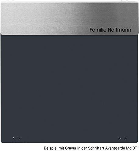 Frabox Design Briefkasten NAMUR Anthrazitgrau / Edelstahl - 4