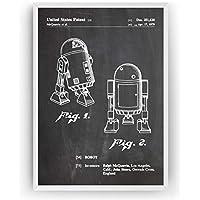 R2D2 1979 Affiche De Brevet - Impressions Prints Art Patent Posters Poster Cadeaux Pour Hommes Décor Femmes Lui Blueprint Plan - Cadre Non Inclus