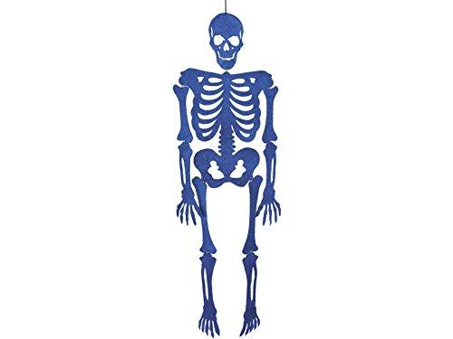 Skelett Blau Eva mit Glitzer 155 cm.