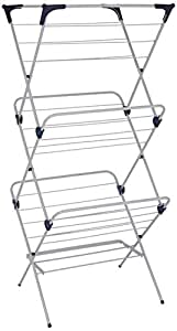 Amazon Brand - Solimo Vertical Foldable Steel Drying Stand