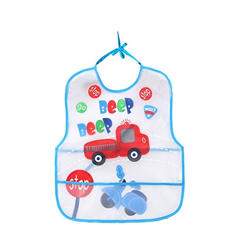 Blaward Baby Lätzchen Wasserdichte Karikatur Lätzchen mit Crumb Catcher Bandana Sabber Lätzchen -