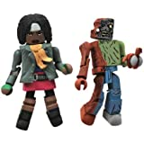 Walking Dead Michonne and Zombie Minimates (Pack of 2)