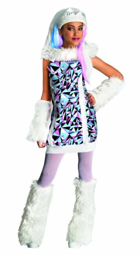Monster High Kinder Kostüm Abbey Bominable Halloween Gr.8-10 (Für High Kostüme Halloween Monster Kinder)