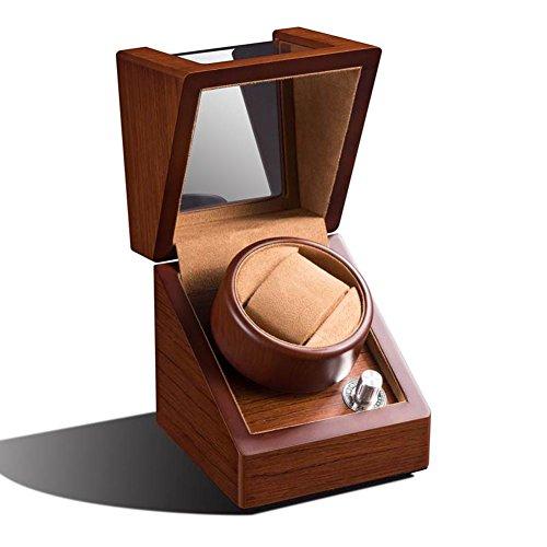 KMMKK Uhr Winder Holz Motor Case 1 + 0 Automatische Wicklung Box Single Head Rotary Mechanische Uhrenbeweger
