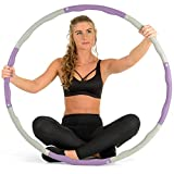 Core Balance Weighted Foam Padded Fitness Exercise Hula Hoop, Wave Groove Design, 1.2kg