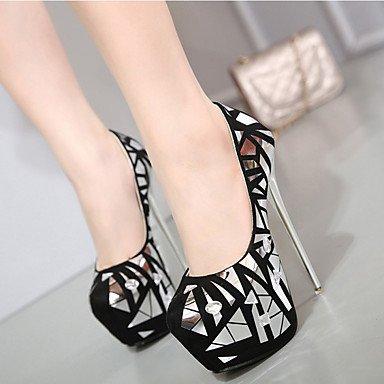 Moda Donna Sandali Sexy donna tacchi Primavera / Estate / Autunno in pelle della piattaforma Party & sera abito / Stiletto Heel Altri Black